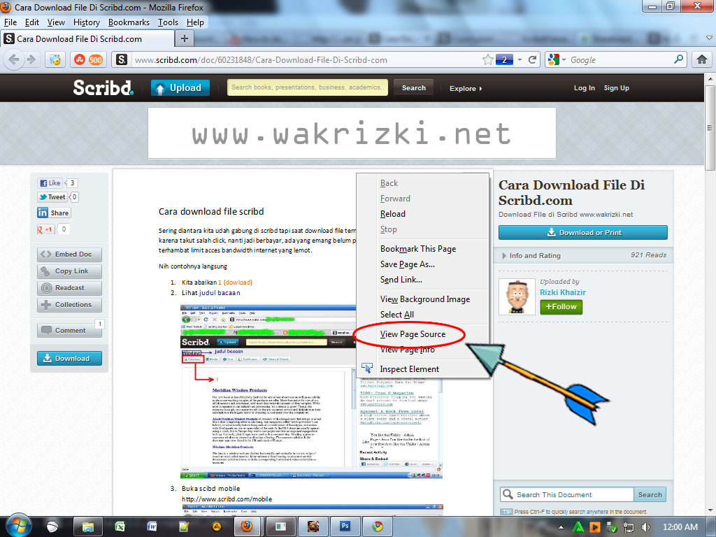 free software to download scribd documents